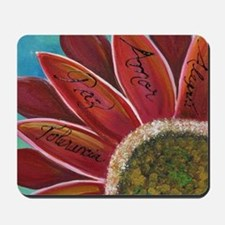 flower with positive words Mousepad