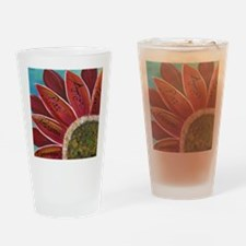 flower with positive words Drinking Glass