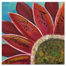 flower with positive words Poster