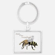 Save the Honeybees! Landscape Keychain
