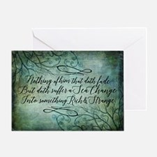 The Tempest Sea Change Greeting Cards