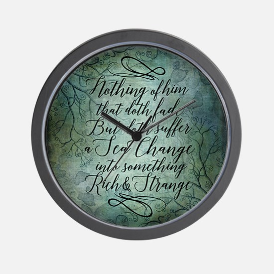 The Tempest Sea Change Wall Clock
