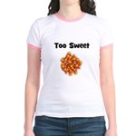 Too Sweet (candy corn) Jr. Ringer T-Shirt
