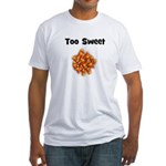 Too Sweet (candy corn) Fitted T-Shirt