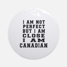 Canadian Round Ornament
