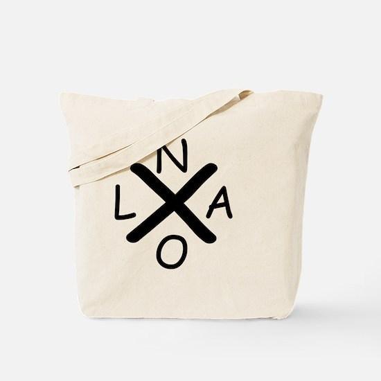 Hurrican Katrina X NOLA black font Tote Bag