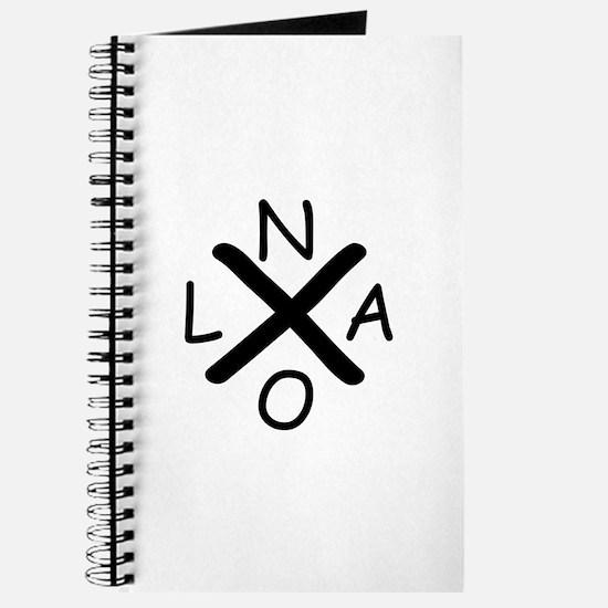 Hurrican Katrina X NOLA black font Journal