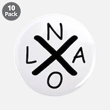 "Hurrican Katrina X NOLA blac 3.5"" Button (10 pack)"