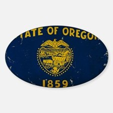 Oregon State Flag VINTAGE Decal