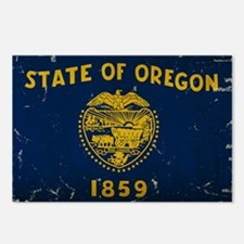Oregon State Flag VINTAGE Postcards (Package of 8)