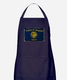 Oregon State Flag VINTAGE Apron (dark)