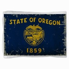 Oregon State Flag VINTAGE Pillow Sham