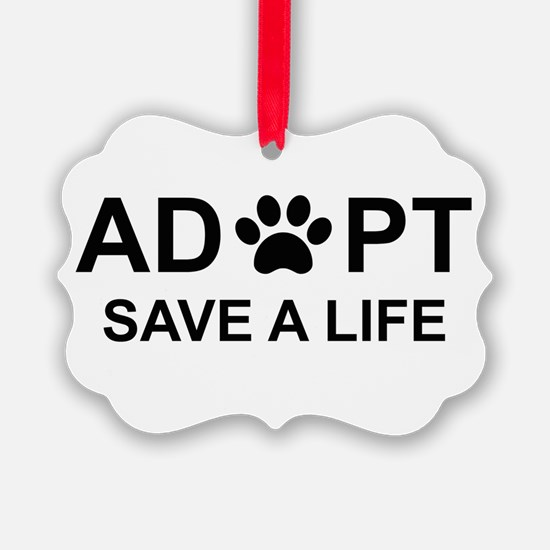 Unique Dog adoption Ornament