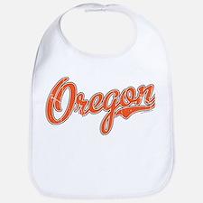 Oregon Script Font Orange Bib