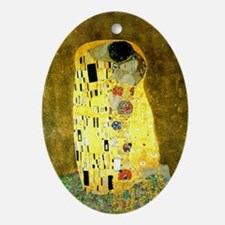 The Kiss Gustav Klimt Oval Ornament