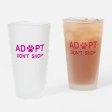 Cool Adopt dont shop Drinking Glass