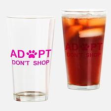 Cute Adopt shelter pet Drinking Glass