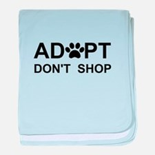 Cute Pet adoption baby blanket