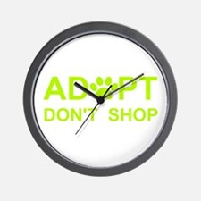 Cute Adopt shelter pet Wall Clock