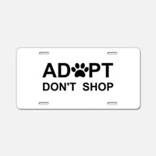 Funny Adopt dont shop Aluminum License Plate