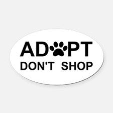 Cool Adopted dog Oval Car Magnet