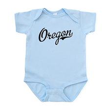 Oregon Script Black Infant Bodysuit