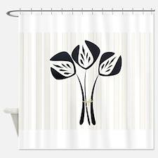 Chic Black Tulip Shower Curtain