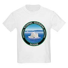 Environmental Polar Bear Maine T-Shirt
