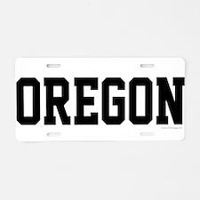 Oregon Jersey Black Aluminum License Plate