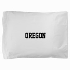 Oregon Jersey Black Pillow Sham