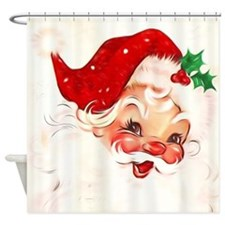 Cute Santa Shower Curtain
