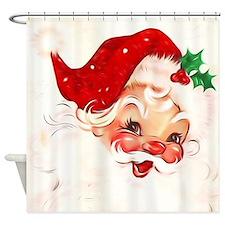 Cute Vintage santa Shower Curtain