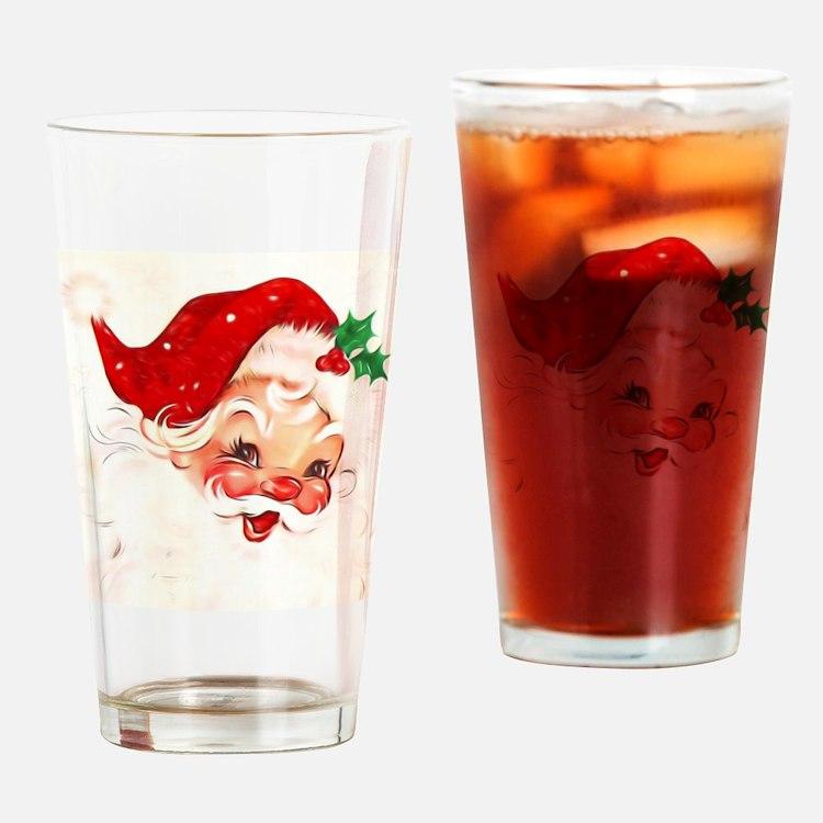 Cute Santa claus Drinking Glass