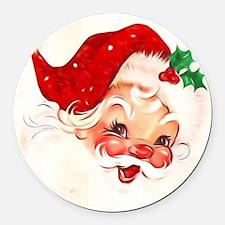 Cute Santa claus Round Car Magnet