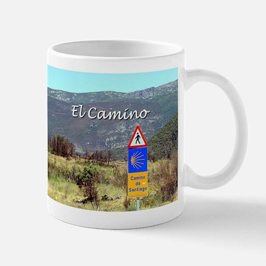 El Camino sign, Spain (caption) Mugs