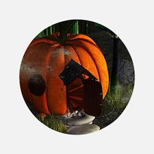 """Halloween, pumpkin house 3.5"""" Button (100 pack)"""