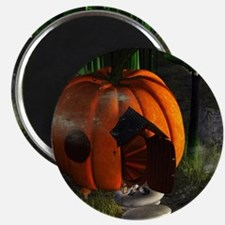 Halloween, pumpkin house Magnets