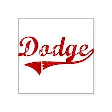 """Unique Dodge Square Sticker 3"""" x 3"""""""
