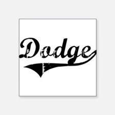 "Funny Dodge Square Sticker 3"" x 3"""