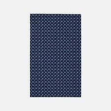 Blue Nautical Pattern Area Rug