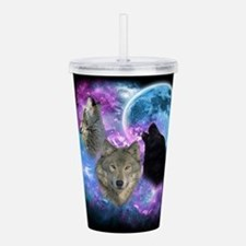 Wolves Mystical Night Acrylic Double-wall Tumbler