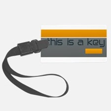 Grey Orange Industrial Modern Dorm Luggage Tag