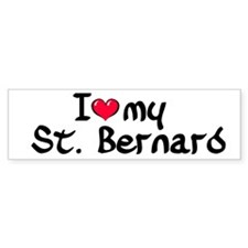 I Love my St. Bernard Bumper Bumper Sticker