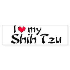 I Love my Shuh Tzu Bumper Bumper Sticker