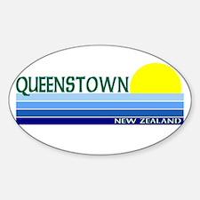 Queenstown, New Zealand Oval Decal