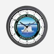 Environmental Polar Bear Kentucky Wall Clock