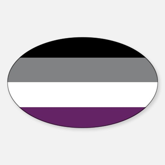 Asexuality Flag Decal