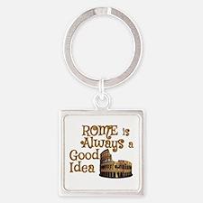Cute Good idea Square Keychain