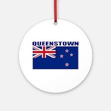 Queenstown, New Zealand Ornament (Round)
