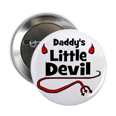 Daddy's Little Devil Button